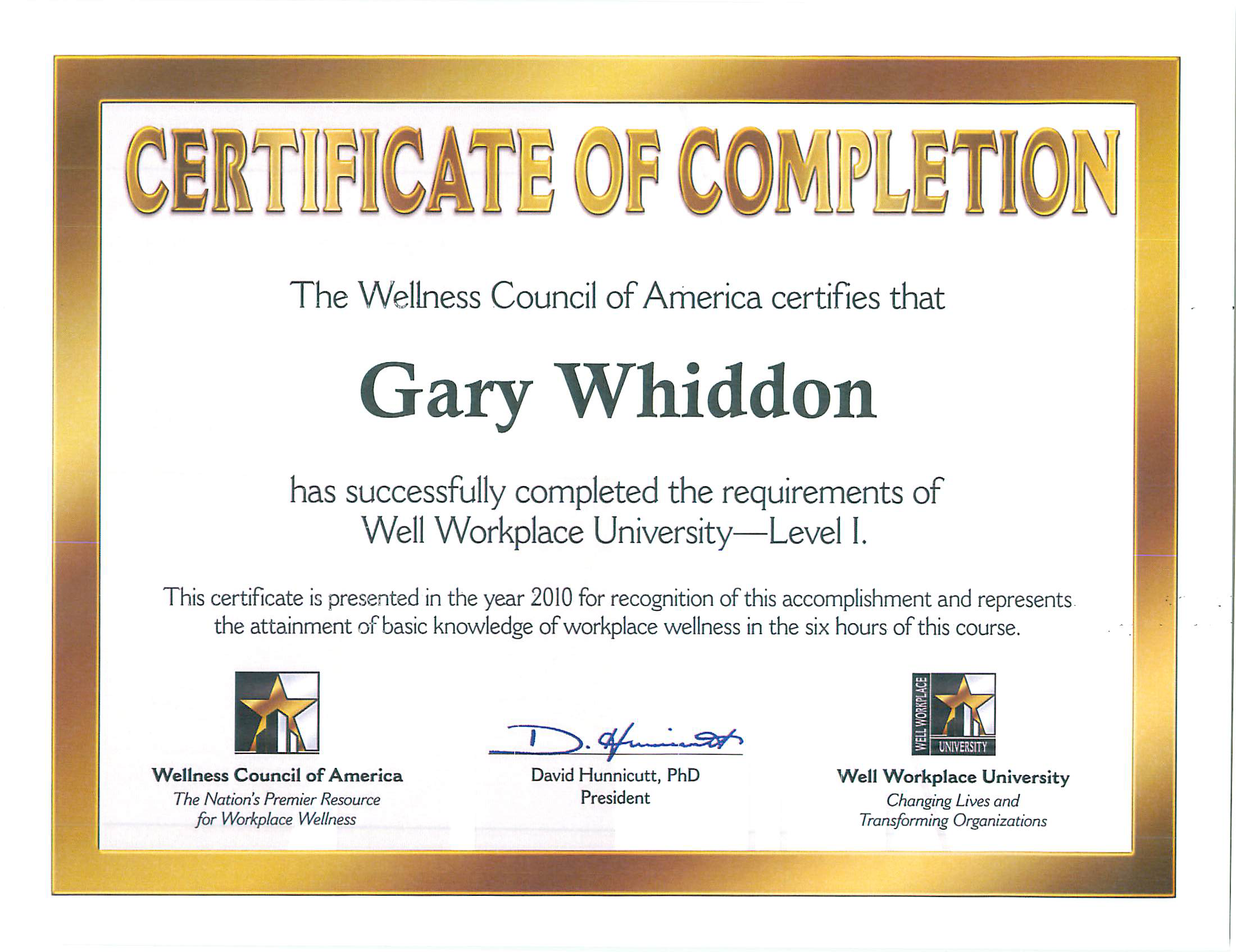 Well Workplace University – Level 1 Certification   Health Plans ...